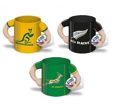 Rugby Ceramic Coffee Cup Mug 2015 World Cup New Zealand Austrailia South Africa