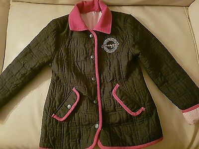 Pineapple girls black coat age 6-7 FABULOUS designer