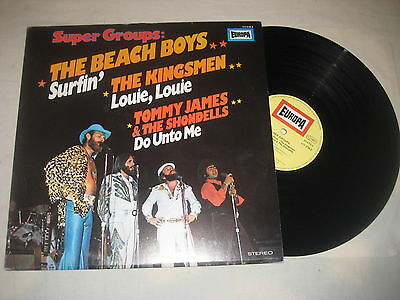 Super groups - Beach Boys / Kingsmen / Tommy James & Sondells Vinyl LP Sampler