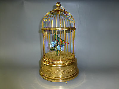 VINTAGE FRENCH BONTEMS SINGING BIRD CAGE BIRD AUTOMATON MUSIC BOX (Watch Videos)