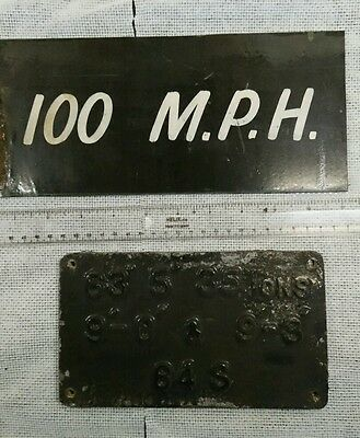 British Rail cast metal carriage specification plate