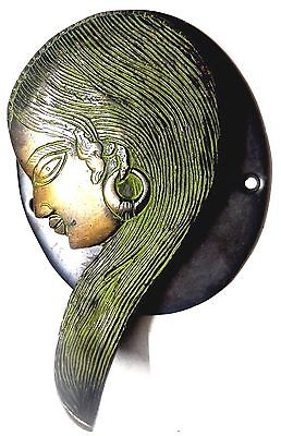 Unique Lady Shape Antique Vintage Style Handmade Brass Door Knocker Door Pull