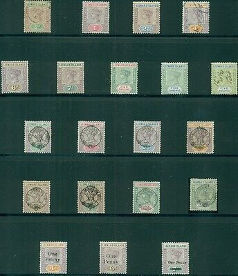 LEEWARD ISLANDS COLLECTION 1890–1954 on Vario pages, mostly mint Scott $2,641.00