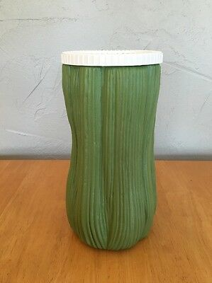 Vintage Celery Green Plastic Keeper Container Canister Snap Lid Vintage Retro