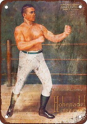 John Sullivan for Hohenadel Beer Vintage Look Reproduction Metal Sign