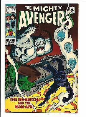 AVENGERS # 62 (1st MAN-APE appearance, SEPT 1969), NM-