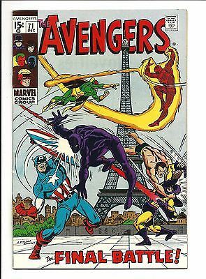 AVENGERS # 71 (1st INVADERS appearance, DEC 1969), NM-