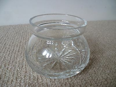Royal Brierley Crystal Cut Glass Posy Vase makers mark to base - LOOK!