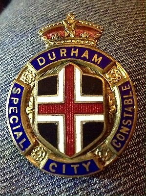 Durham City Special Constable Enamel Badge First World War.