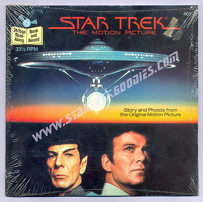 "NEW BOOK & RECORD SET ""Star Trek: The Motion Picture"" Buena Vista Records 1983!"