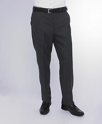Mens Skopes Trousers Dark Grey Titan MM7322 Flat Front Office Smart & Formal
