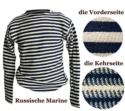 Russian Striped T-Shirt Navy Telnjaschka 100% Cotton Military Marine Navy USSR