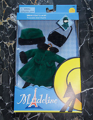 """NEW FOR 8"""" MADELINE 2002 COAT and MUFF SET"""