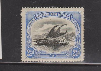 PAPUA 1901 2.5d BLACK AND ULTRAMARINE MOUNTED MINT