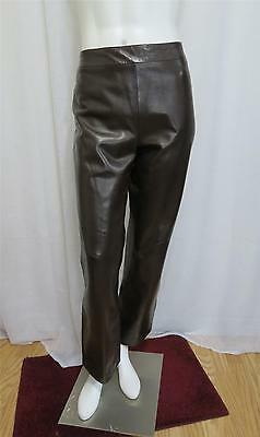 Thierry Mugler couture Designer Softest ever Luxurious Lamb leather pants 42-M