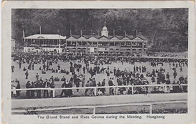 The Grand Stand And Race Course During The Meeting, Hong Kong - Used, 1910