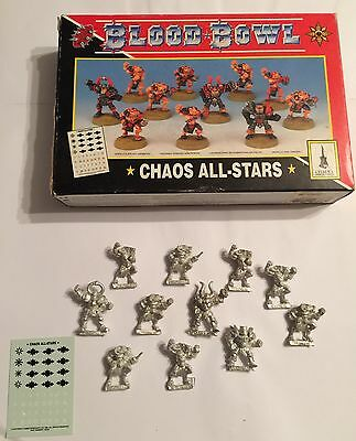 Blood Bowl 3rd Edition Chaos All Stars Team 11 figures - Boxed With Transfers