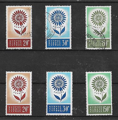 Cyprus Sg 249 - 251 Mint And Used Set