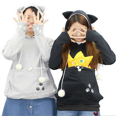 Unisex Mewgaroo Nyangaroo Cat Dog Pet Casual Kangaroo Coat Hoodie Top Carrier