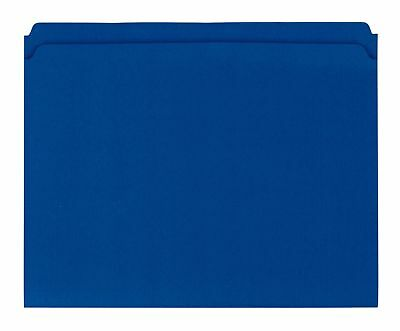Globe-Weis Reinforced File Folders, Straight Tabs, Blue, Letter, 100/BX 5BX/CT