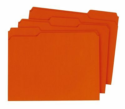 Globe-Weis Reinforced File Folders, 1/3 Cut Tabs, Orange, Letter, 100/BX 5BX/CT