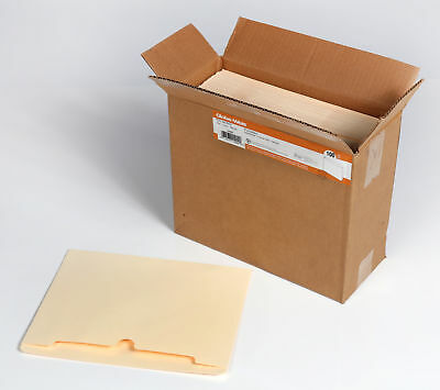 Globe-Weis Manila File Jackets, 11 pt., Double Top Tab, Flat, Letter, 100-Count