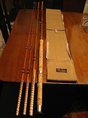 Superb Farlow Sharpes Spliced Impregnated Cane Salmon Rod 13' #9