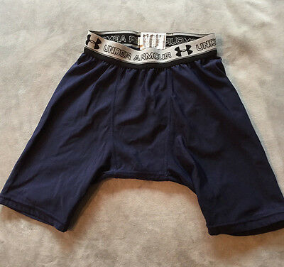 Under Armour Boys Navy Blue Compression Shorts Size Youth Small - 95610