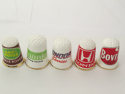 Thimbles  - 5 X Advertising Thimbles As Per Pictures - Lots More Available Lot19