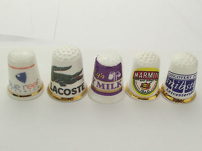 Thimbles  - 5 X Advertising Thimbles As Per Pictures - Lots More Available Lot20