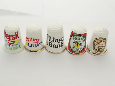 Thimbles  - 5 X Advertising Thimbles As Per Pictures - Lots More Available Lot22