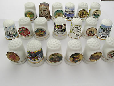 Thimbles Small Collection Of 19 Australian Aussie Related Thimbles - Job Lot