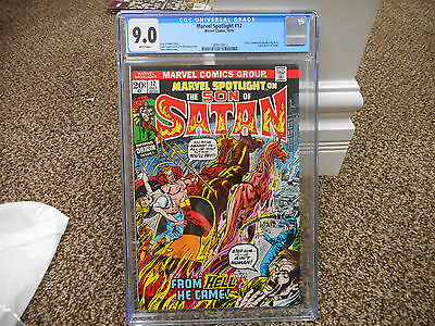 Marvel Spotlight 12 cgc 9.0 1st full appearance Son of Satan 1973 WHITE pages