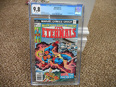 Eternals 3 cgc 9.8 1st appearance of Sersi Marvel 1976 WHITE pages Avengers GotG