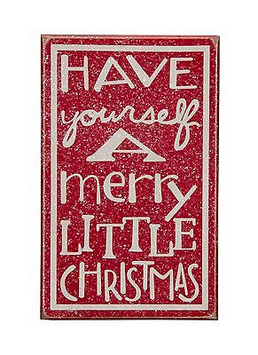 """"""" Have Yourself A Merry Little Christmas """" Wood Sign Wall Decor Holiday Winter"""