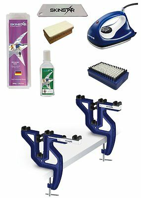 SKINSTAR Skiwax Set Ski wax for Snowboard with Wax iron and Quick release