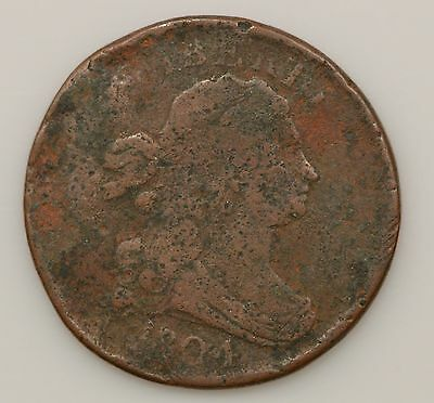 1804 Draped Bust *Crosslet 4, Stemless, Rotated Rev.* Half Cent *G89