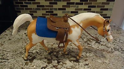 Breyer Light Brown White Spots Palomino Pinto Horse With Saddle
