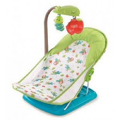 Summer Infant Deluxe Baby Bather Caterpillar Foldable Bath Time Support + Toybar