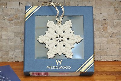 NEW Wedgwood White Jasper Snowflake Collectors Porcelain Ornament