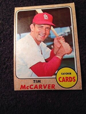 1968 Topps Tim McCarver #275 Baseball Card- St Louis Cardinals- Catcher- Single