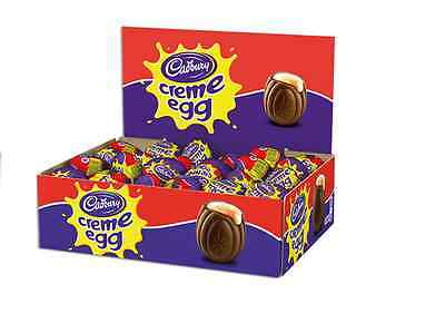 Cadbury Creme Eggs 12 24 or 48 Full Box Milk Chocolate Easter Gift Party Treat