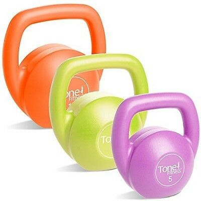 Vinyl Coated Kettlebell Body Trainer Set with DVD, 30 lbs.