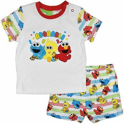 Infant Sesame Street Pyjamas - Pjs - Size 00 To 2 - New