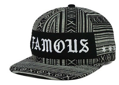 Famous Stars and Straps Men/'s Raised On Rap Snapback One Size Hat Black
