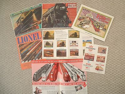 Lot <RePro> Old Toy Train Catalog Covers, etc: Lionel,Ives,American Flyer,