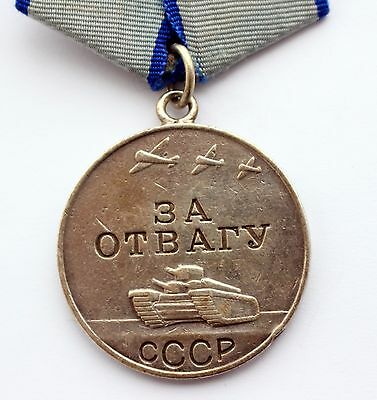 Original Soviet Russian USSR SILVER Medal For Courage Bravery Valor SN 1.529.044