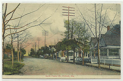 Alabama - Dotham - Residential - North Foster St. - Tree Lined - Homes - 1908