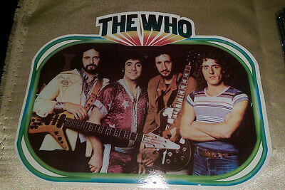 """Vintage  Rare """" THE WHO  """"  Iron-On Transfer  FULL COLOR"""