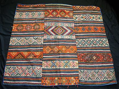 19/20C Central Burma Bumthang Three Panel Wraps Blankets #153A (Eic)